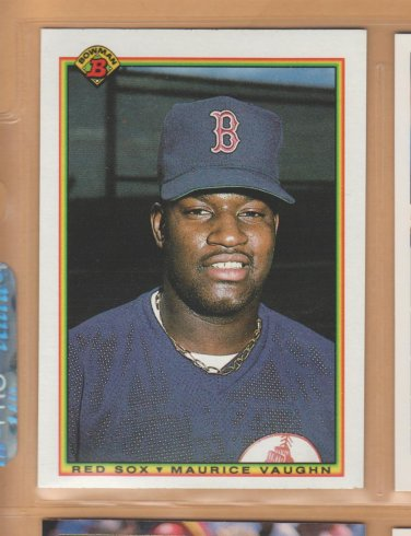 1990 Bowman Rookie Maurice Mo Vaughn Red Sox RC