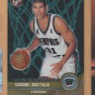 2001-02 Topps Pristine Uncommon Rookie Shane Battier Grizzlies RC