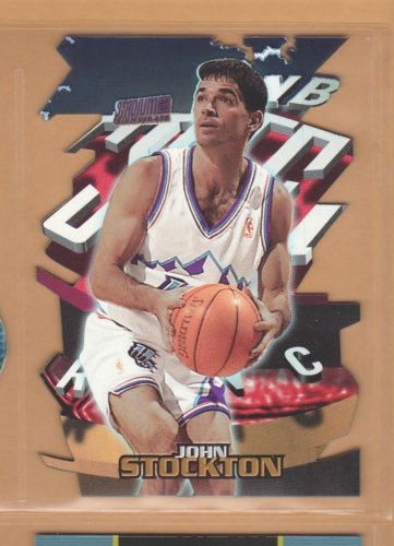 1997-98 Stadium Club Triumvirate Refractor John Stockton Jazz