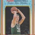 1988-89 Fleer Stickers #2 Larry Bird Celtics