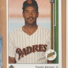 1989 Upper Deck Rookie Sandy Alomar Jr Padres RC