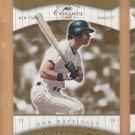 2001 Donruss Classics Legend SP Don Mattingly Yankees /1755
