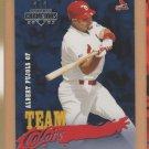 2003 Donruss Champions Team Colors Albert Pujols Cardinals