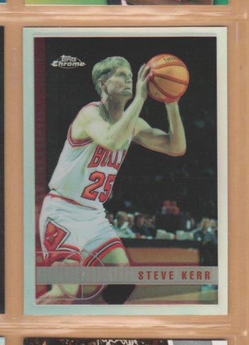 1997-98 Topps Chrome Refractor Steve Kerr Bulls