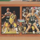 1993-94 NBA Hoops #MB1 Larry Bird Magic Johnson Celtics Lakers