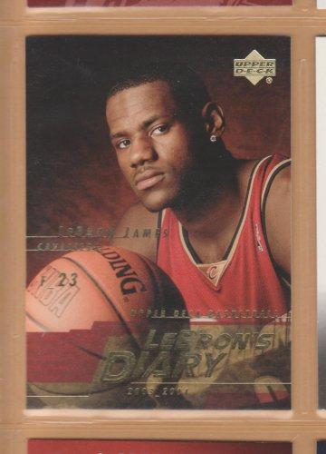 2003-04 UD LeBron's Diary Rookie LeBron James RC #LJ10 Cavaliers