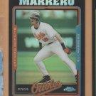 2005 Topps Chrome Update & Highlights Black Refractor Eli Marrero Orioles /250