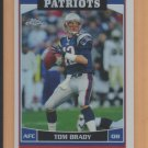 2006 Topps Chrome Refractor Tom Brady Patriots