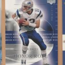 2002 Upper Deck Honor Roll Tom Brady Patriots