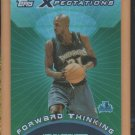 2001-02 Topps Xpectations Forward Thinking Kevin Garnett Timberwolves
