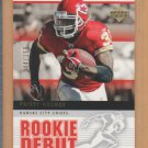 2005 UD Rookie Debut Gold Priest Holmes Chiefs /150