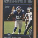 2004 Topps Black Border Amani Toomer Giants /150