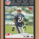 2004 Topps Black Border Ty Law Patriots /150