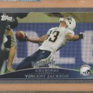 2009 Topps Black Border Vincent Jackson Chargers /54