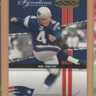 2004 Playoff Honors Prime Signatures Adam Vinatieri Patriots /999