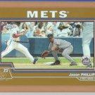 2004 Topps Chrome Gold Refractor Jason Phillips Mets
