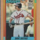 2001 Topps Chrome Traded Reprints Refractor #36, 48T Dave Justice Braves
