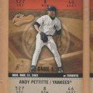 2003 Fleer Authentix #128 Andy Pettitte Yankees #3 Subset