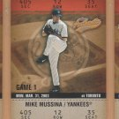 2003 Fleer Authentix #129 Mike Mussina Yankees #4 Subset