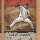 2003 Fleer Authentix #132 David Wells Yankees #7 Subset