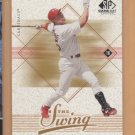 2001 SP Game Bat Edition In the Swing Mark McGwire Cardinals