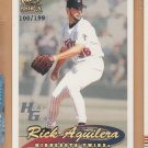 1999 Pacific Paramount Holo-Gold Rick Aguilera Twins /199