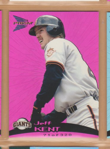 1999 Pacific Prism Holographic Purple Jeff Kent Giants /320