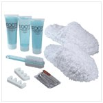 Mint Foot Care and Slippers Set
