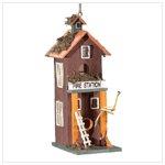 2 Story Fire Station Birdhouse