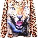 OASAP Angry Leopard Sweatshirt, multi, M, OP35020