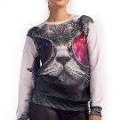 OASAP Cool Cat Graphic Sweatshirt, multi, M, OP33888