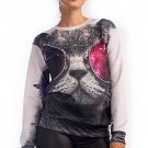 OASAP Cool Cat Graphic Sweatshirt, multi, L, OP33888
