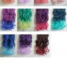 OASAP Fashion Gradual Color Hair Extension, royal blue&light blue, one size, OP37377