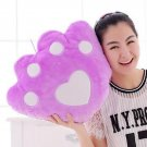 Bear Paw Pattern Luminous Stuffed Toy with Music for Cushion Birthday Gift, lavender, OP58867