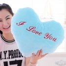 Heart Pattern Luminous Stuffed Toy with Music for Cushion Birthday Gift, blue, OP58866