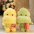 Hippo Cartoon Animal Stuffed Toy for Birthday Gift, color at random, OP58860