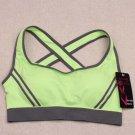 Ossap,Women Yoga Athletic Sports Bras Crop Bra Tops Seamless Padded Racerback,green,s,61804