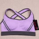 Ossap,Women Yoga Athletic Sports Bras Crop Bra Tops Seamless Padded Racerback,lavender,s,61804