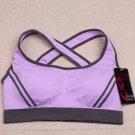 Ossap,Women Yoga Athletic Sports Bras Crop Bra Tops Seamless Padded Racerback,lavender,m,61804