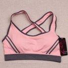 Ossap,Women Yoga Athletic Sports Bras Crop Bra Tops Seamless Padded Racerback,pink,l,61804