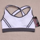 Ossap,Women Yoga Athletic Sports Bras Crop Bra Tops Seamless Padded Racerback,white,s,61804