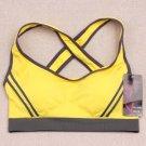 Ossap,Women Yoga Athletic Sports Bras Crop Bra Tops Seamless Padded Racerback,yellow,l,61804