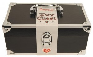 "Toy Chest and Vibe Set, Black with 7"" Silver Vibe"