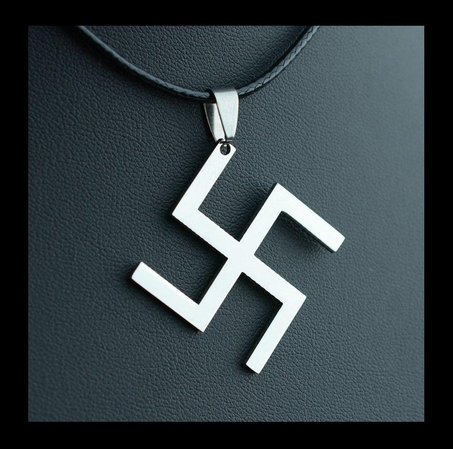 WW2 Swastika Nazi Germany German Stainless Steel Pendant