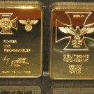 ww2 Germany Iron Cross A. Hitler signature Commemorative ReichsBank Souvenir Bar Coin Great Piece
