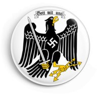 "WW2 Nazi Germany Swastika Eagle ""Gott Mit Uns"" Lapel Pin Button"