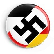 WW2 Nazi Germany 3 Flags Swastika Lapel Pin Button.