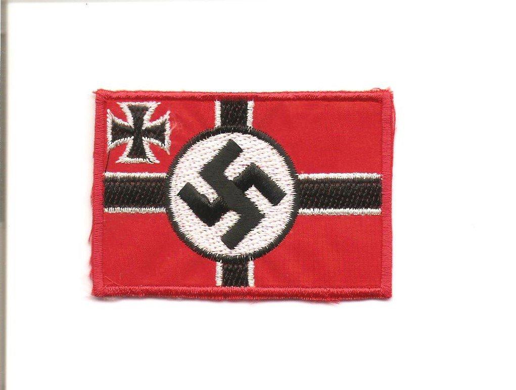 WW2 Nazi Germany Swastika Battle Flag Saw On Patch