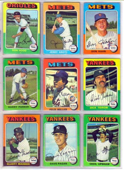 1975 TOPPS CECIL UPSHAW #92 YANKEES