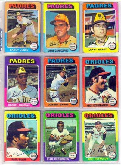 1975 TOPPS ANDY ETCHEBARREN #583 ORIOLES